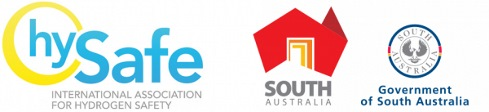The HySafe, Brand South Australia and State Government of South Australia logos